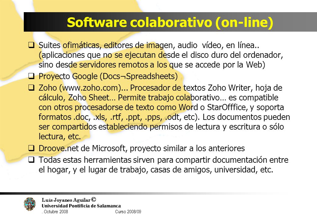 Software colaborativo (on-line)