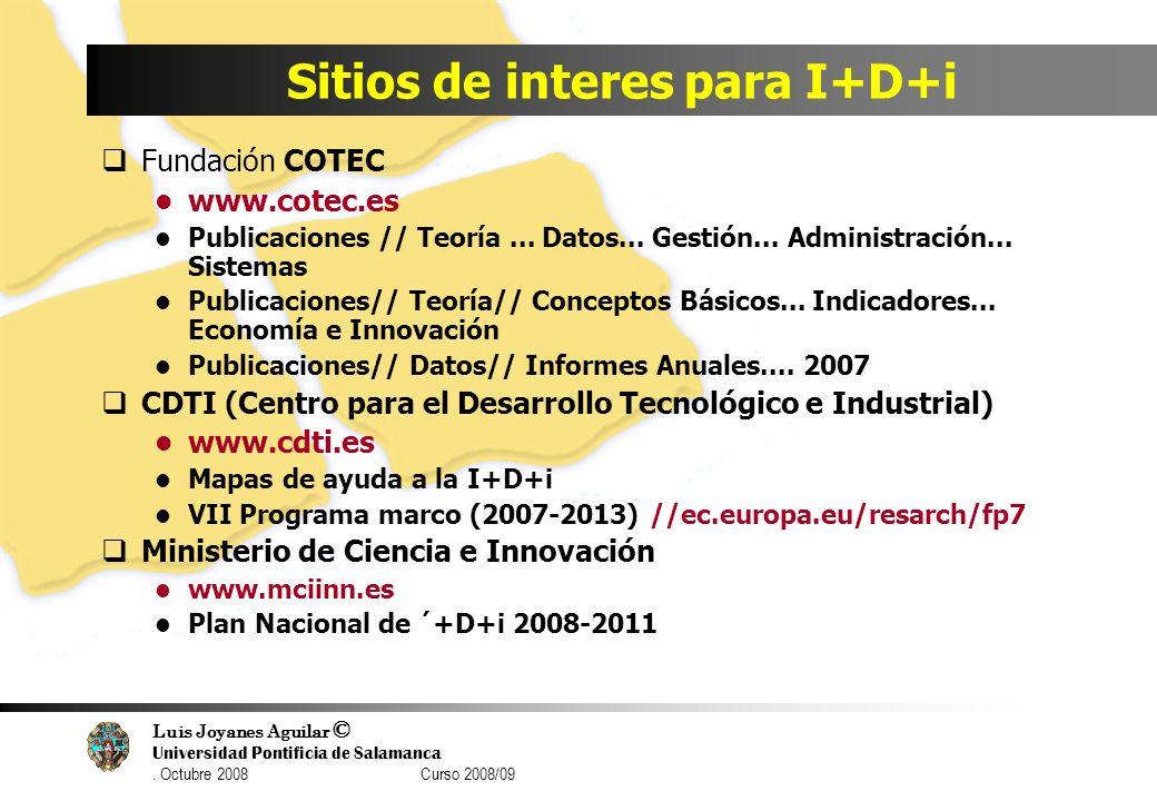 Sitios de interes para I+D+i