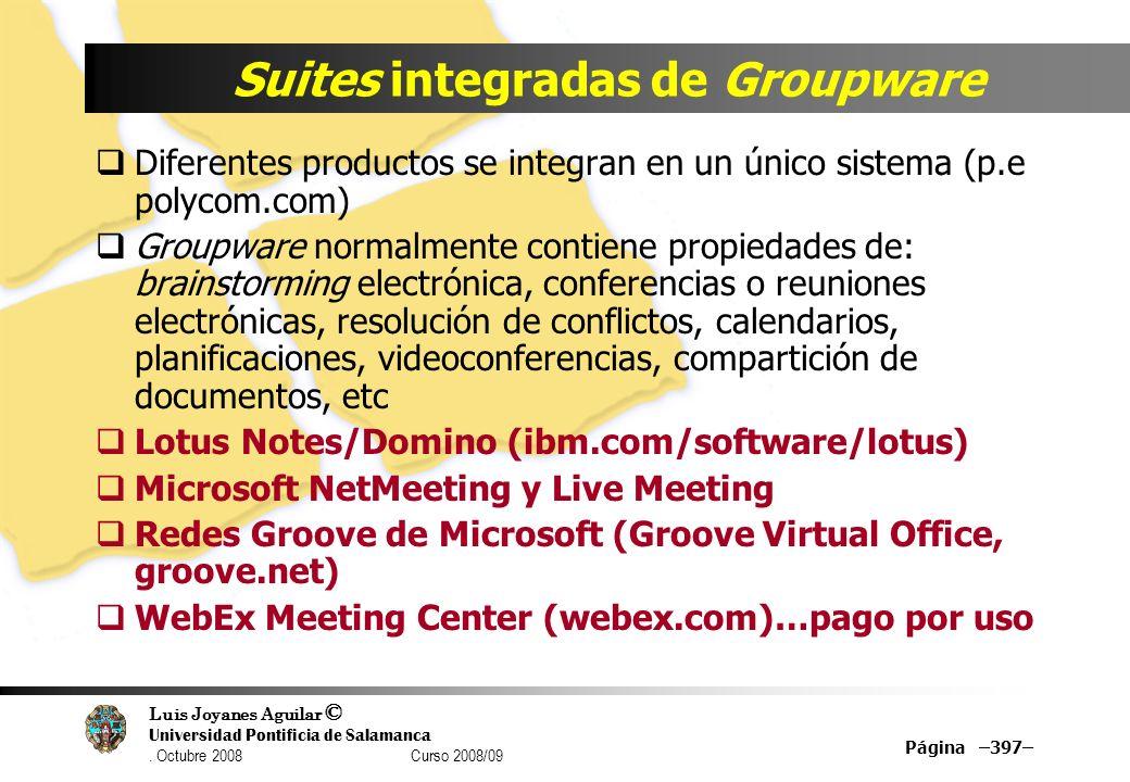 Suites integradas de Groupware
