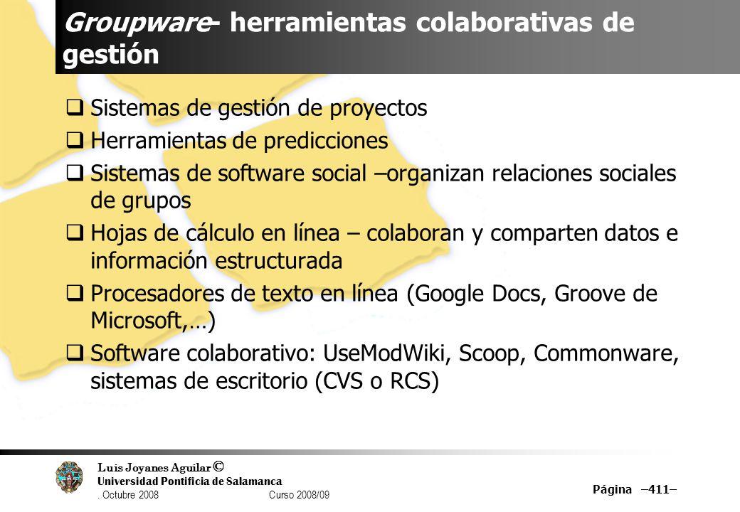 Groupware- herramientas colaborativas de gestión
