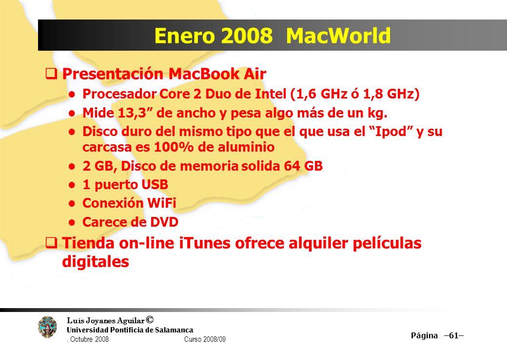 Enero 2008 MacWorld Presentación MacBook Air