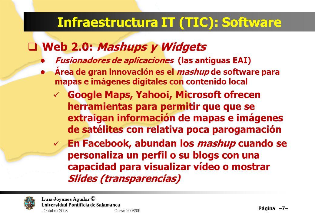 Infraestructura IT (TIC): Software