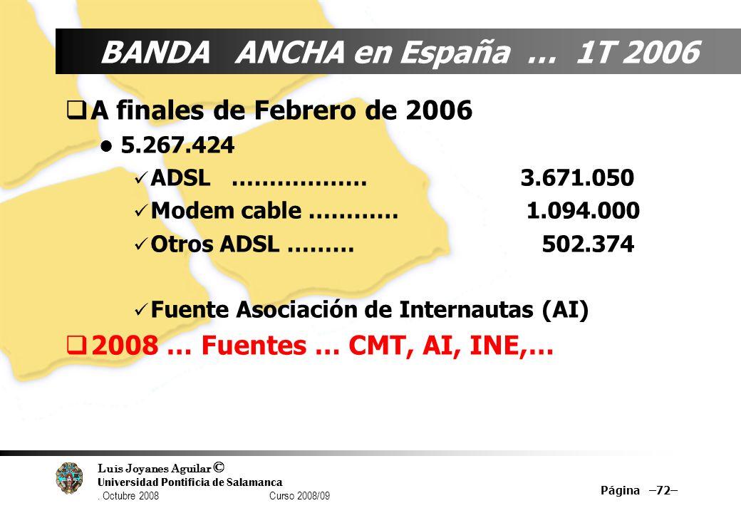 BANDA ANCHA en España … 1T 2006