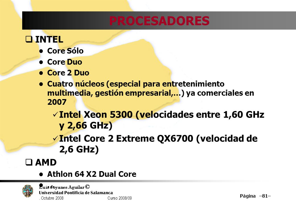 PROCESADORES INTEL. Core Sólo. Core Duo. Core 2 Duo.