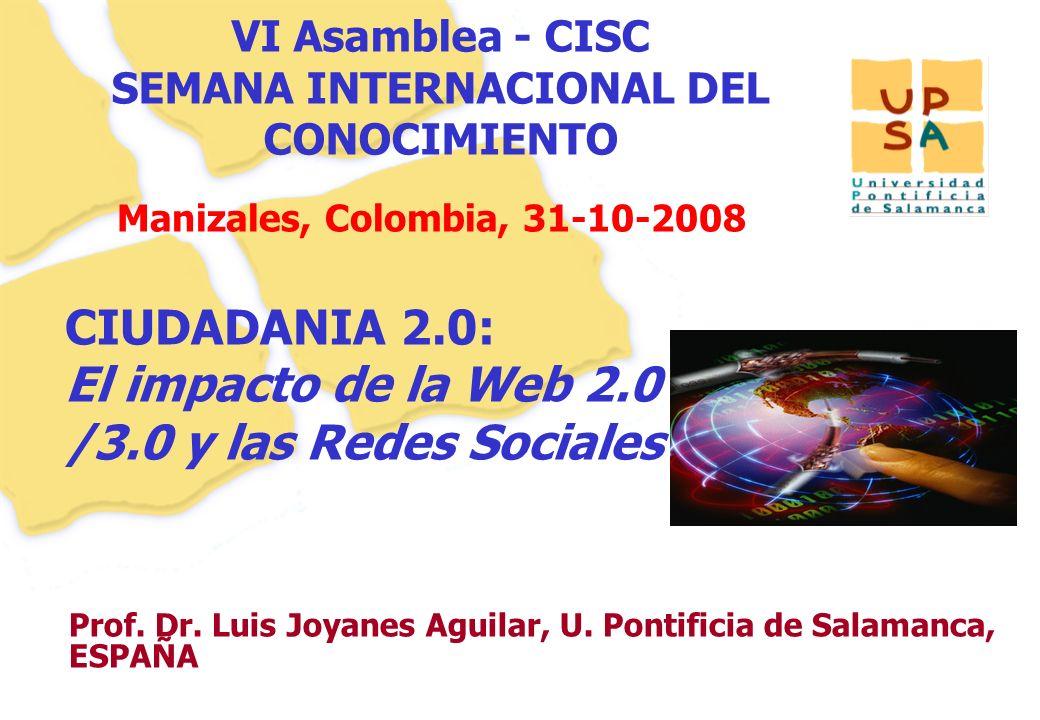 VI Asamblea - CISC SEMANA INTERNACIONAL DEL CONOCIMIENTO