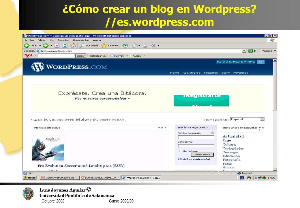 ¿Cómo crear un blog en Wordpress //es.wordpress.com
