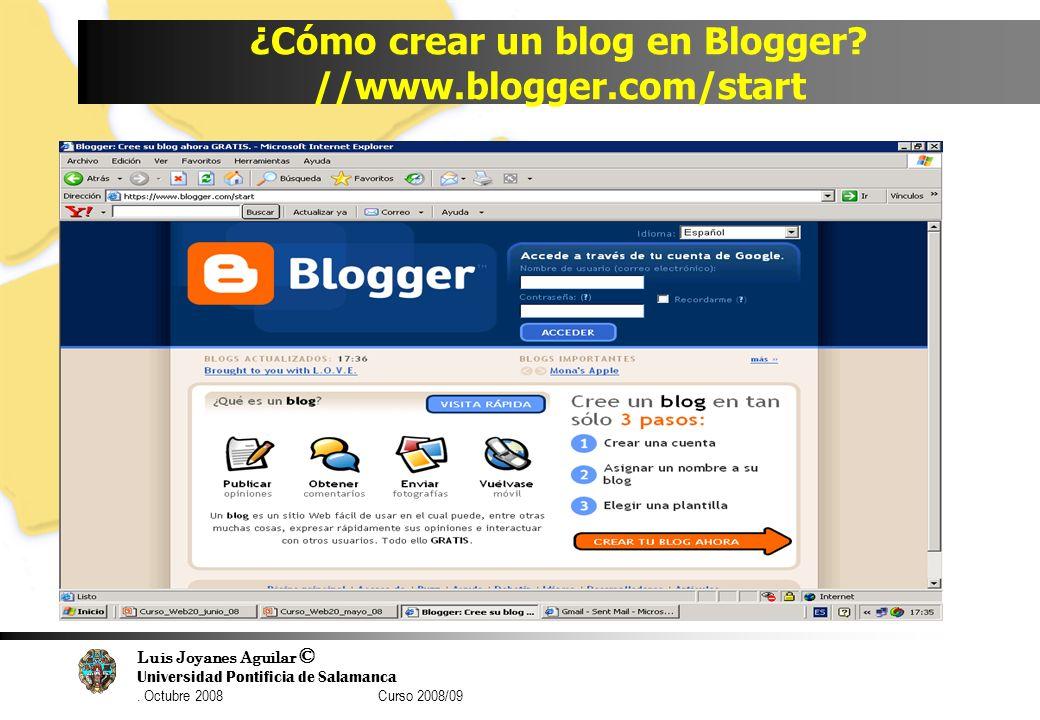 ¿Cómo crear un blog en Blogger //www.blogger.com/start
