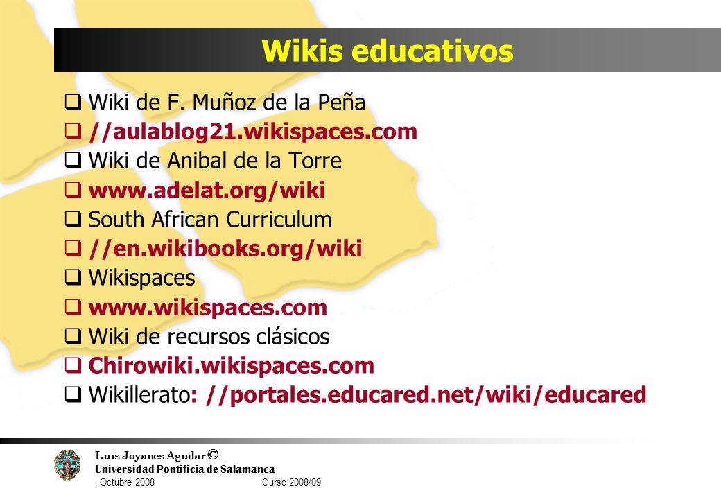 Wikis educativos Wiki de F. Muñoz de la Peña
