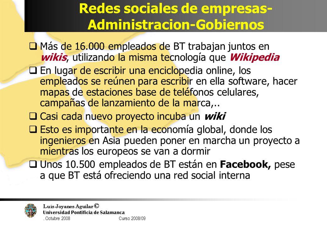 Redes sociales de empresas- Administracion-Gobiernos