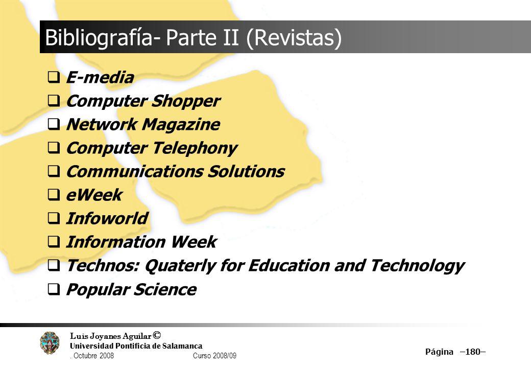 Bibliografía- Parte II (Revistas)