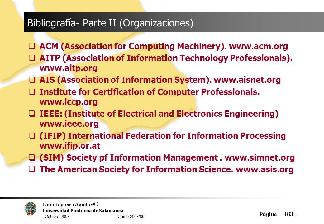 Bibliografía- Parte II (Organizaciones)