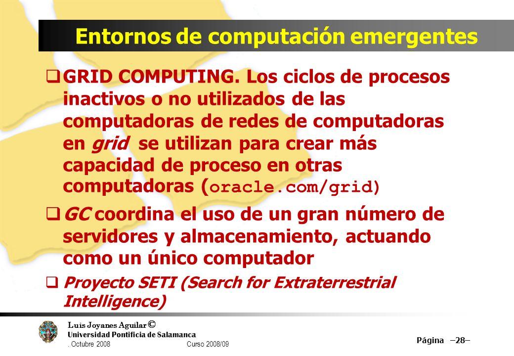 Entornos de computación emergentes