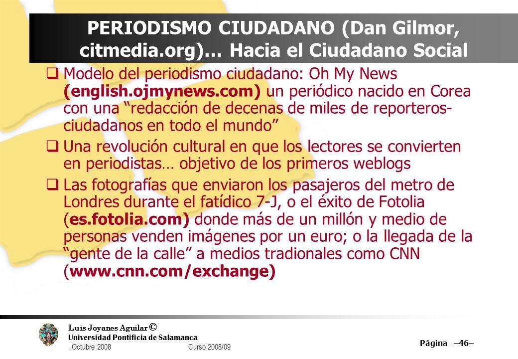 PERIODISMO CIUDADANO (Dan Gilmor, citmedia