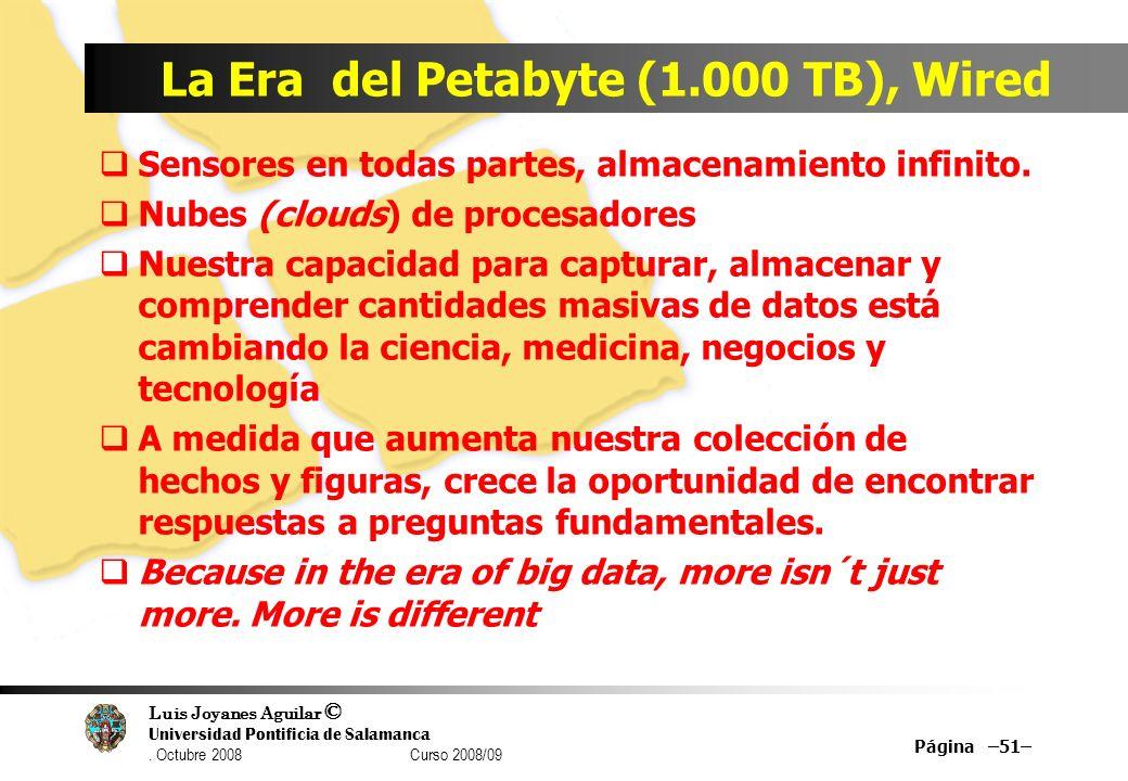 La Era del Petabyte (1.000 TB), Wired
