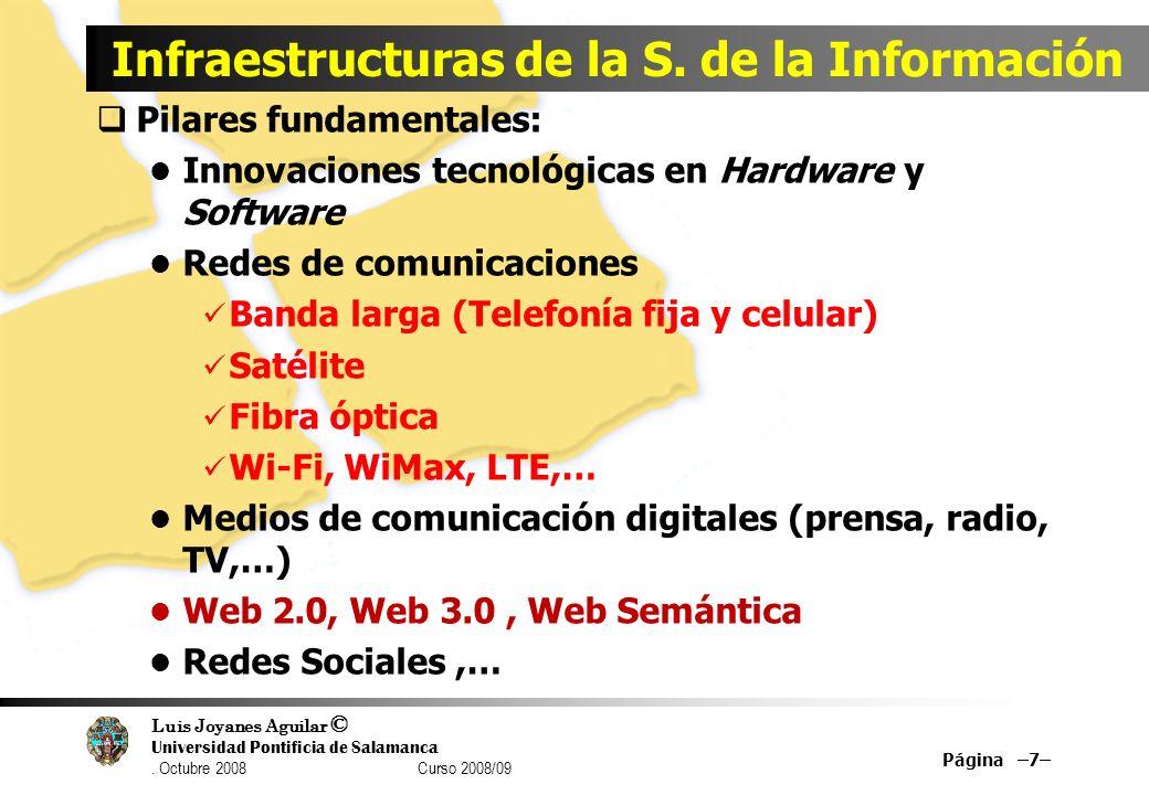 Infraestructuras de la S. de la Información