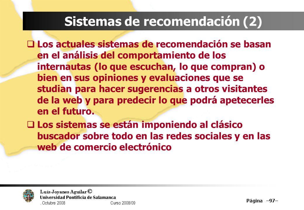 Sistemas de recomendación (2)