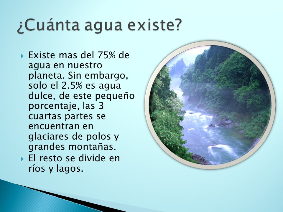 ¿Cuánta agua existe