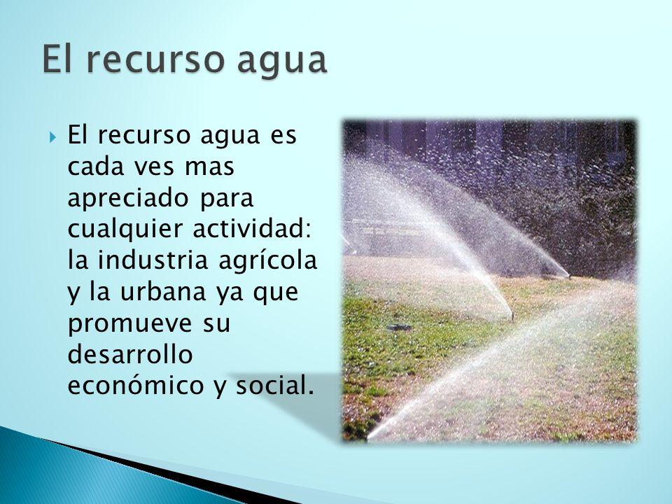 El recurso agua