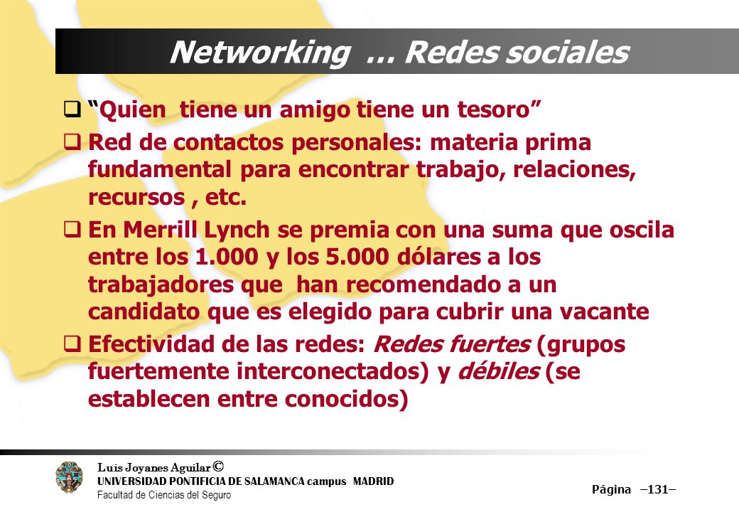Networking … Redes sociales