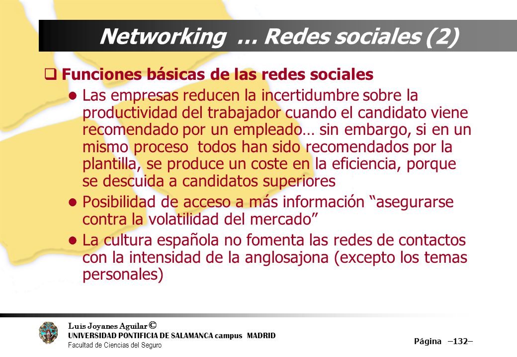 Networking … Redes sociales (2)