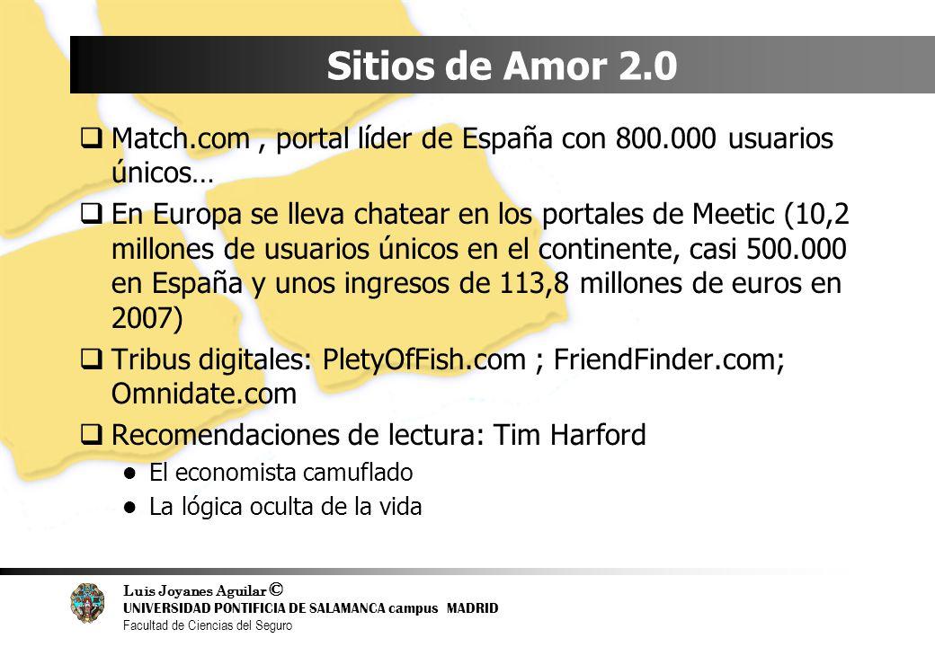 Sitios de Amor 2.0 Match.com , portal líder de España con 800.000 usuarios únicos…