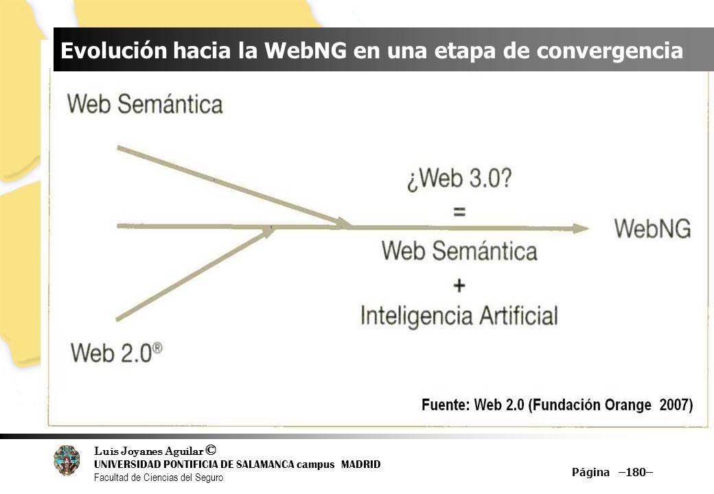 Evolución hacia la WebNG en una etapa de convergencia