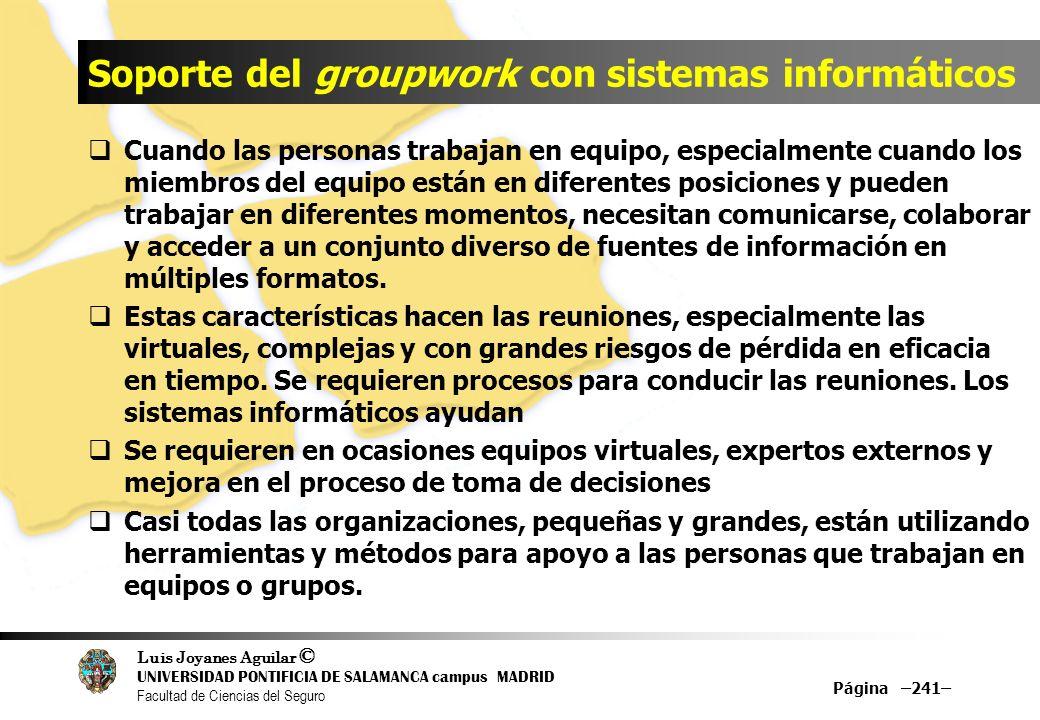 Soporte del groupwork con sistemas informáticos