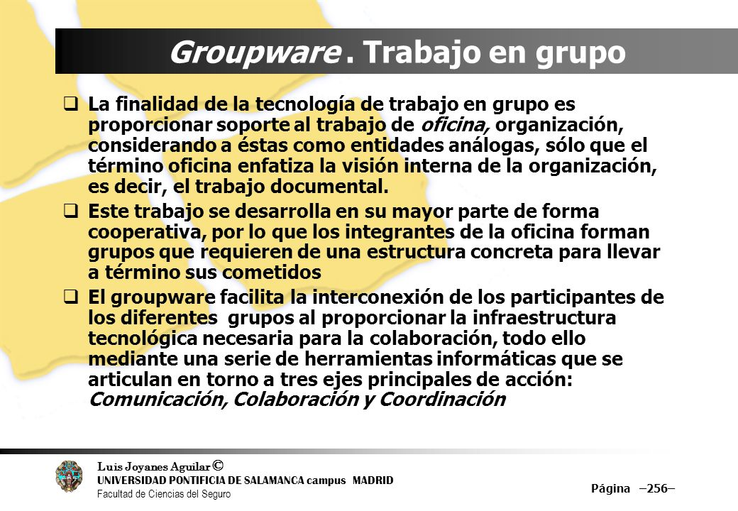 Groupware . Trabajo en grupo