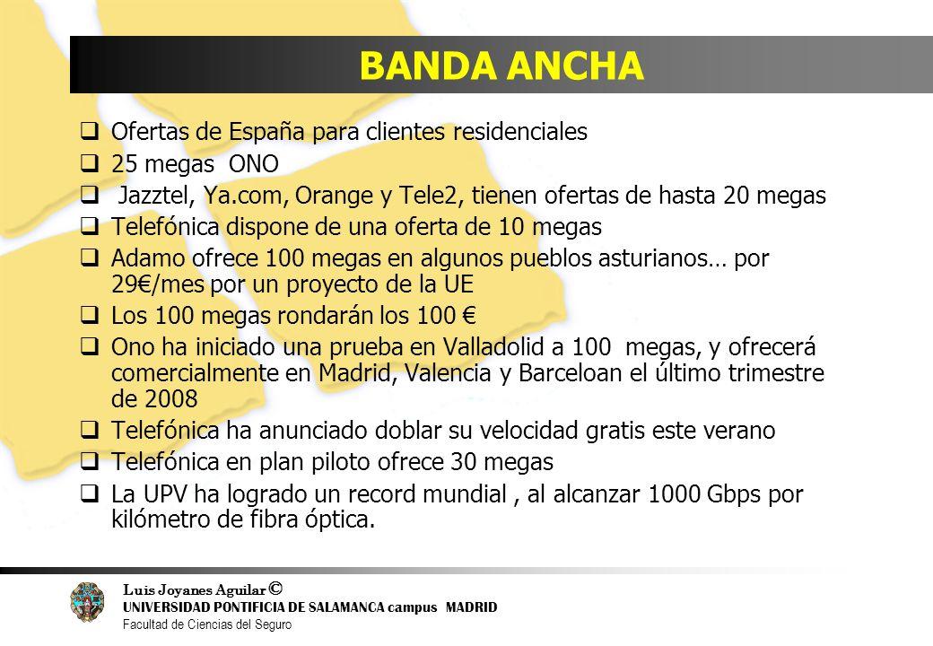 BANDA ANCHA Ofertas de España para clientes residenciales 25 megas ONO