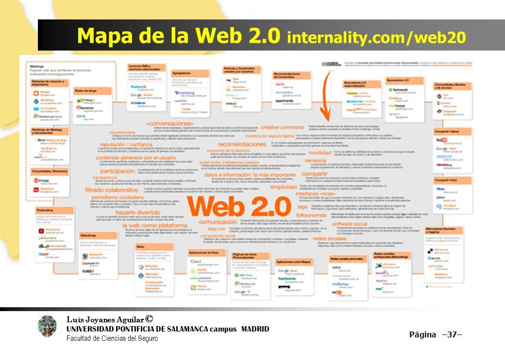 Mapa de la Web 2.0 internality.com/web20