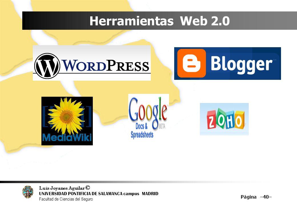 Herramientas Web 2.0 Página –40–