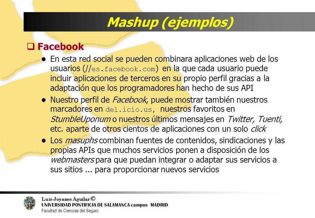 Mashup (ejemplos) Facebook