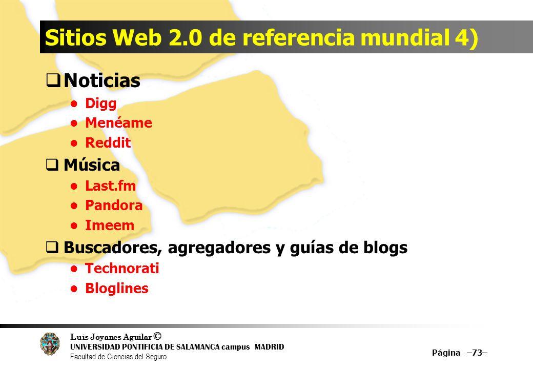 Sitios Web 2.0 de referencia mundial 4)