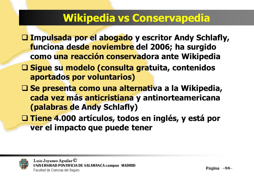 Wikipedia vs Conservapedia