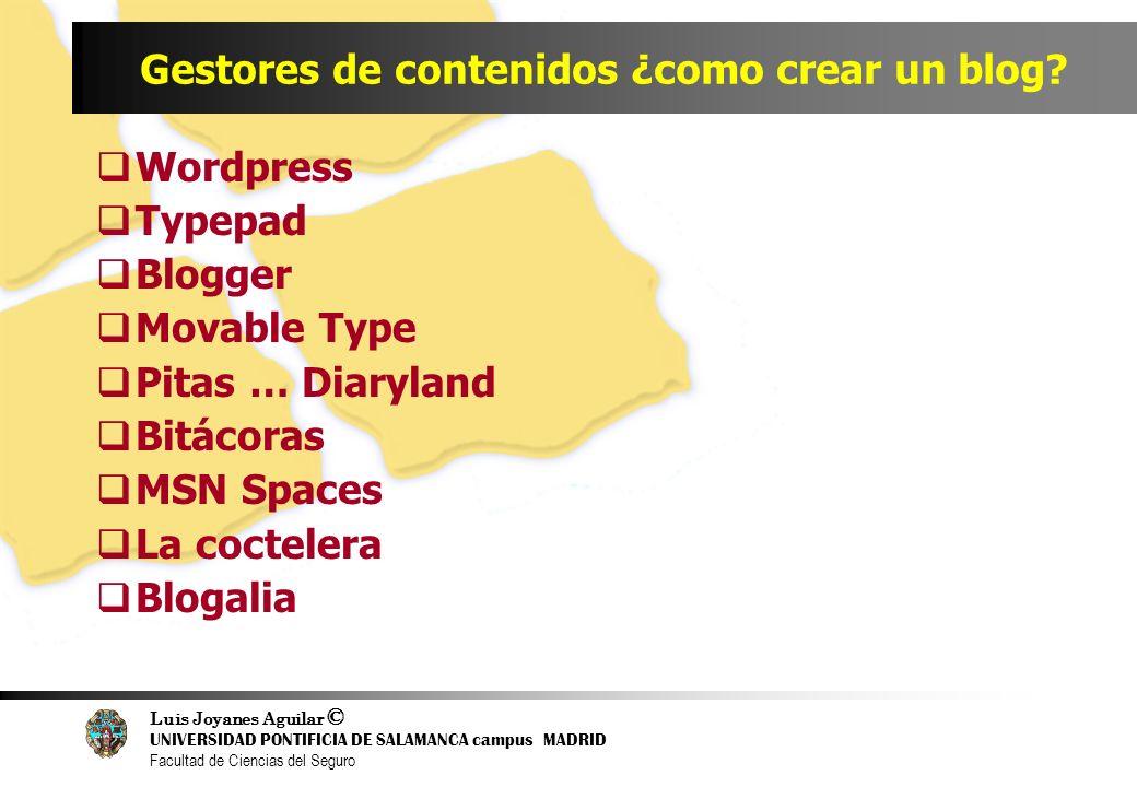 Gestores de contenidos ¿como crear un blog