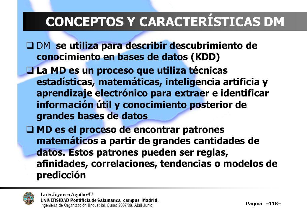 CONCEPTOS Y CARACTERÍSTICAS DM