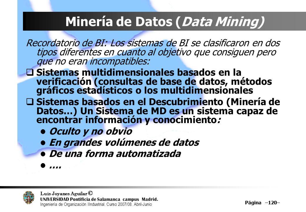 Minería de Datos (Data Mining)