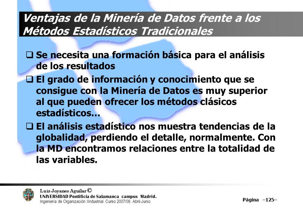 Ventajas de la Minería de Datos frente a los Métodos Estadísticos Tradicionales