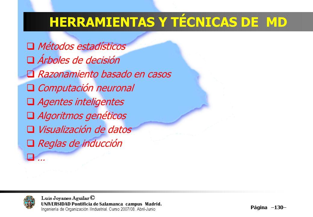 HERRAMIENTAS Y TÉCNICAS DE MD