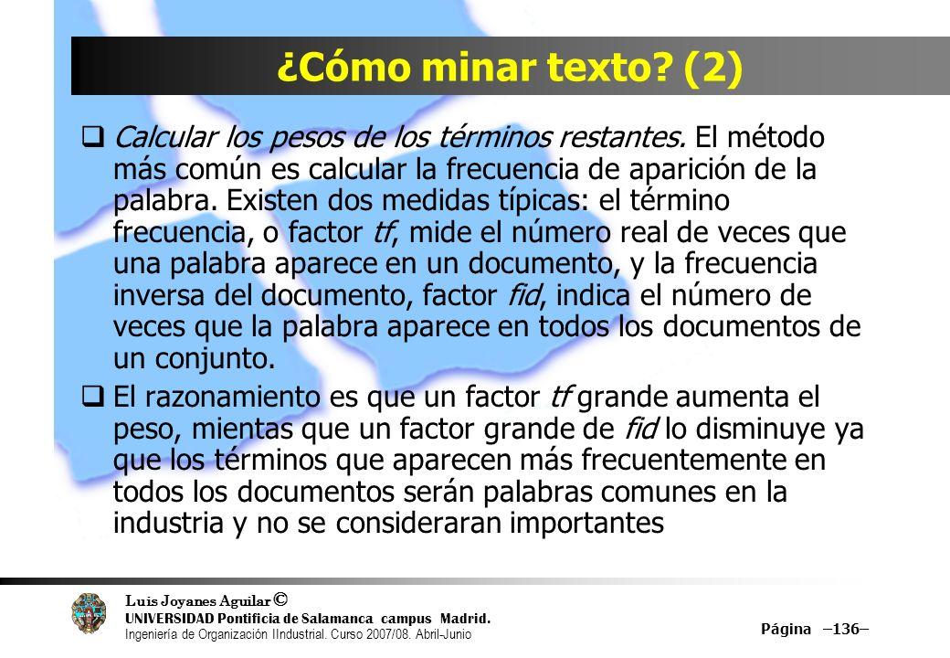 ¿Cómo minar texto (2)
