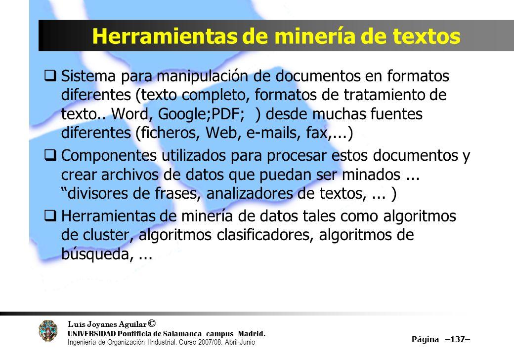 Herramientas de minería de textos