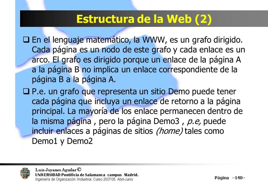 Estructura de la Web (2)