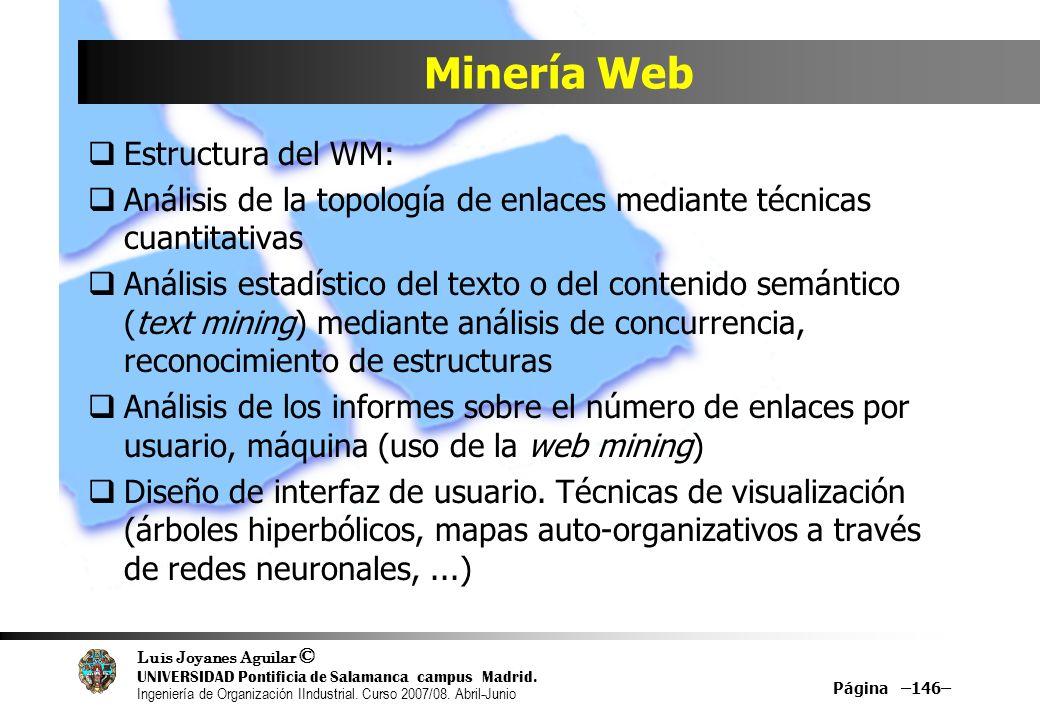 Minería Web Estructura del WM: