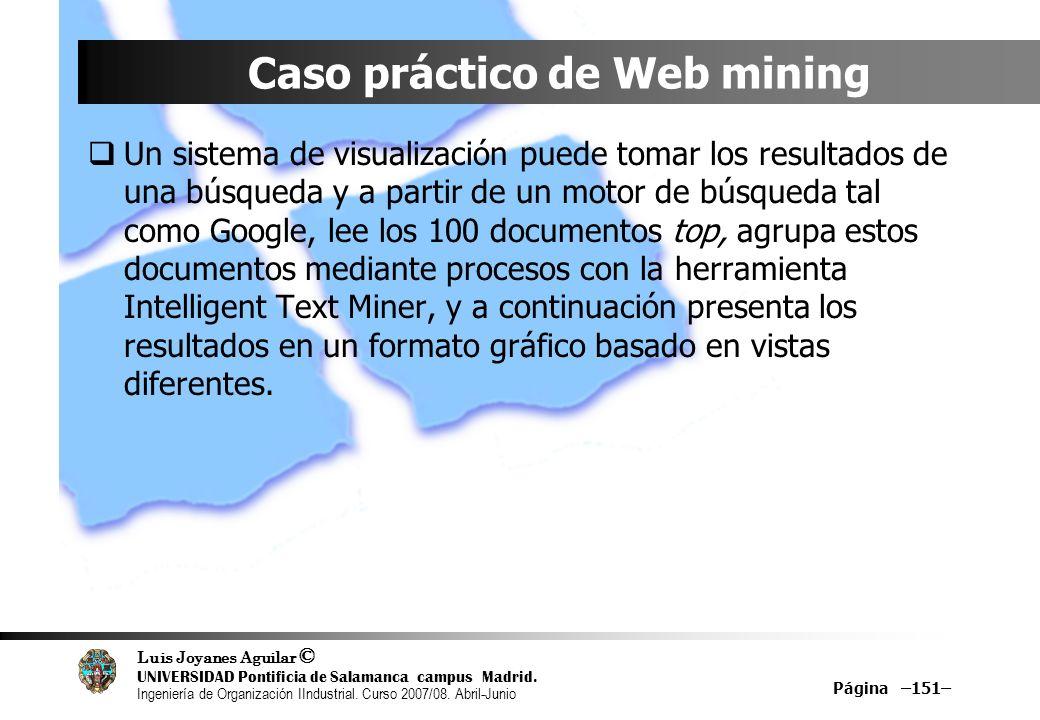 Caso práctico de Web mining