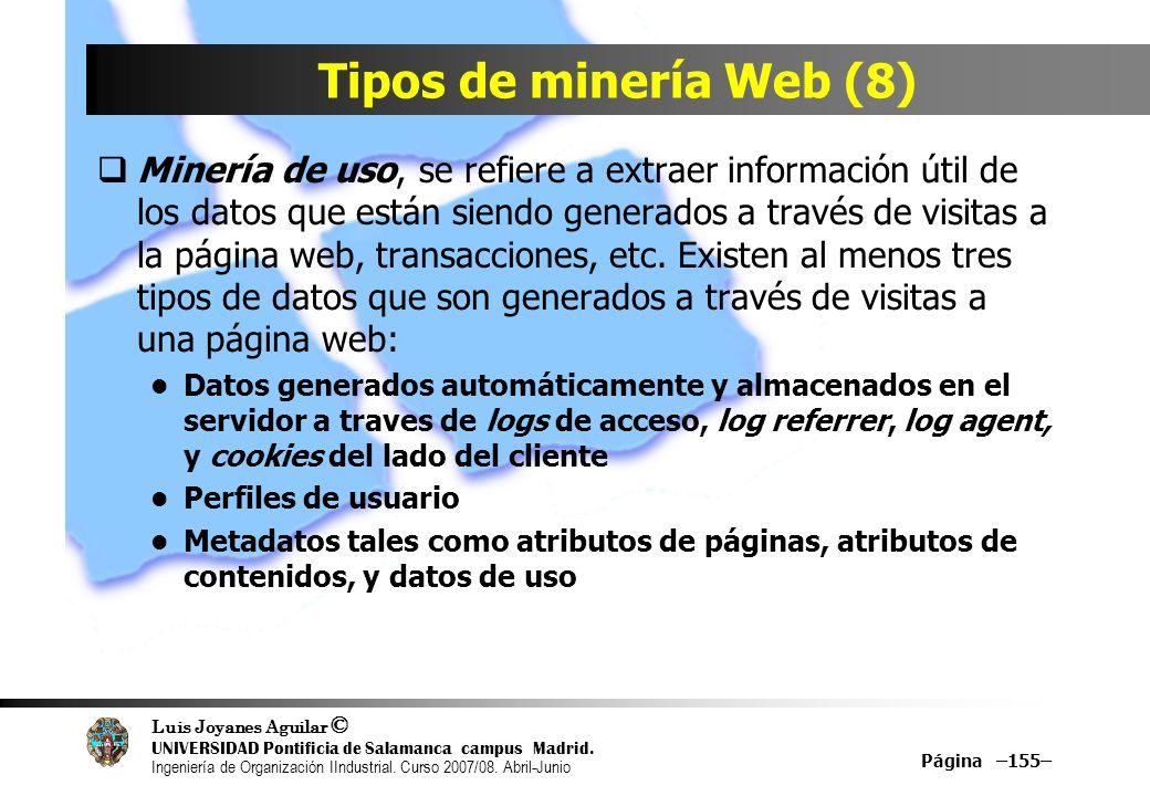 Tipos de minería Web (8)