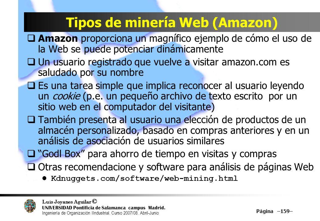 Tipos de minería Web (Amazon)