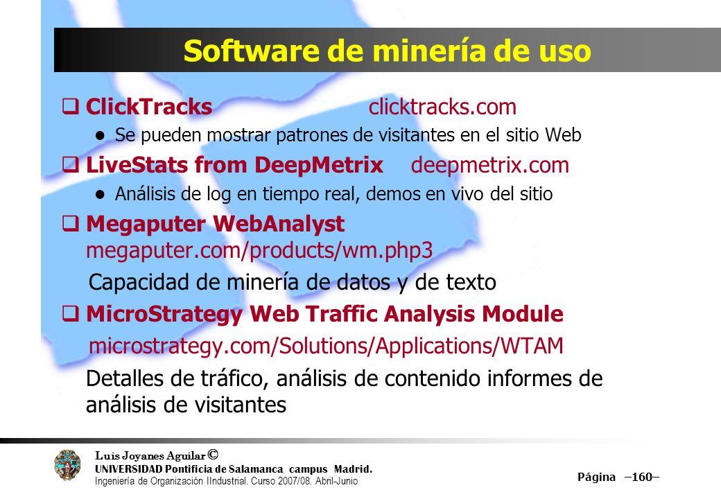 Software de minería de uso