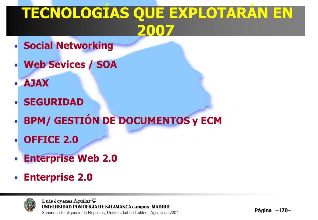 TECNOLOGÍAS QUE EXPLOTARÁN EN 2007