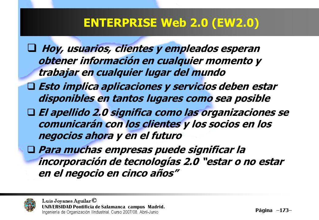 ENTERPRISE Web 2.0 (EW2.0)