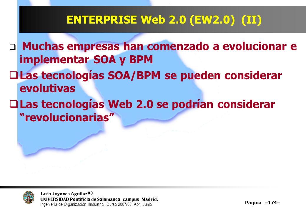 ENTERPRISE Web 2.0 (EW2.0) (II)